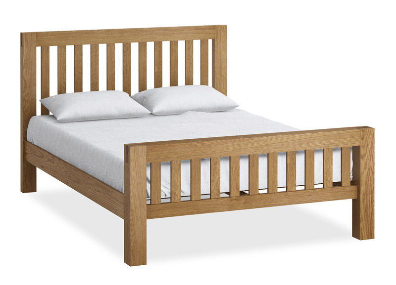 Product Sizes RUSTIC OAK KING SIZE BEDFRAME 160x221x114 | Millers
