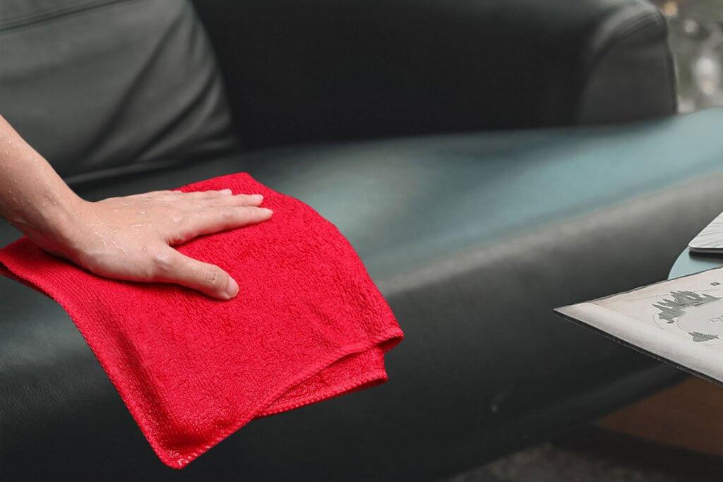 Wipe-leather-sofa